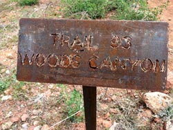 Woods Canyon trail sign